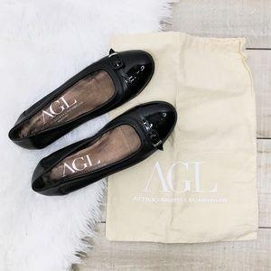 AGL ATTILIO GIUSTI LEOMBRUNI Women's Cap Toe Flats
